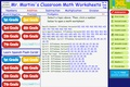Mr. Martini's Classroom Math Worksheets