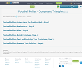 Football Follies - Congruent Triangles