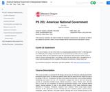 American National Government Undergraduate Syllabus