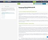 Language Study Methods #1