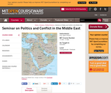 Seminar on Politics and Conflict in the Middle East, Fall 2003