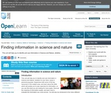 FInding Information in Science and Nature