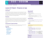 CS Discoveries 2019-2020: Problem Solving Lesson 1.8: Project - Propose an App