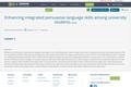 Enhancing integrated persuasive language skills among university students