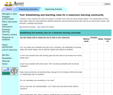 Establishing and Teaching Rules for a Classroom Community