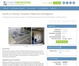 Insulation Materials Investigation
