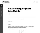 8.EE Folding a Square into Thirds