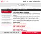 CH104: Chemistry and the Environment