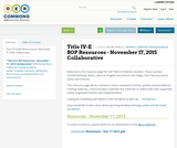 Title IV-E SOP Resources - November 17, 2015 Collaborative