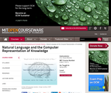 Natural Language and the Computer Representation of Knowledge, Spring 2003