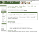 Determining the Break-Even Point  of Profit for a Campus Service