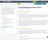 Family & Neighborhood History Project