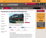 Introduction to Operations Management, Spring 2013