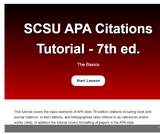 SCSU APA Style Tutorial 7th Edition