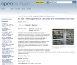 Management of Libraries and Information Services