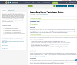 Learn Easy Steps: Participant Guide