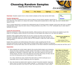 Choosing Random Samples: Mapping Data Made Manageable