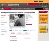 Management Communication for Undergraduates, Fall 2012