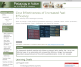 Cost Effectiveness of Increased Fuel Efficiency