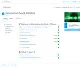 First Year Seminar: Illuminating the Code of Dance Canvas Commons