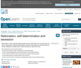Nationalism, Self-Determination and Secession