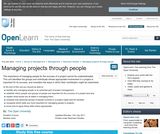 Managing Projects Through People