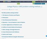 College Physics I:  BIIG problem-solving method