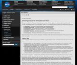 Choosing a Career in Atmospheric Science