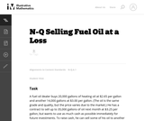 Selling Fuel Oil at a Loss