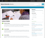 Boston University Libraries: Research Guides