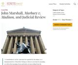 John Marshall, Marbury v. Madison, and Judicial Review