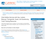 Child Welfare Services with Gay, Lesbian, Bisexual, Transgender, Queer, and Questioning Youth Training Resources