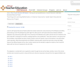Teaching and Learning Mathematics in Diverse Classrooms: Saide Open Educational Resources Project
