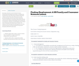 Finding Employment: A HS Family and Consumer Sciences Lesson