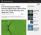 2-D Unstructured Mesh Particle-MHD Solar Wind Flow Over the Earth: Density and Magnetic Field