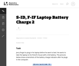 S-ID, F-IF Laptop Battery Charge 2