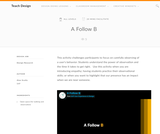 Teach Design : A Follow B