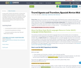 Travel Agents and Travelers, Spanish Novice Mid