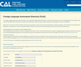 Columbus Public Schools Foreign Language Oral Assessment Kit, Levels I-III