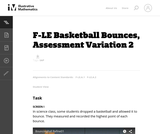 F-LE Basketball Bounces, Assessment Variation 2