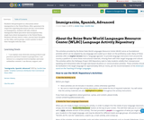 Immigración, Spanish, Advanced