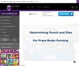 Determining Punch & Dies for Press Brake Forming