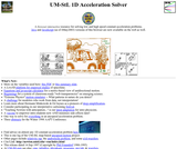 UM-StL 1D Acceleration Solver