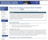 Marginal Analysis Context-Rich Problem