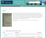 Great Writers Inspire: World War I Poetry