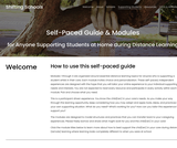 Self-Paced Guide & Modules for Anyone Supporting Students at Home during Distance Learning