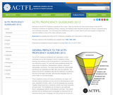 ACTFL Proficiency Guidelines (2012 Edition)