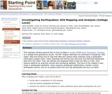 Investigating Earthquakes: GIS Mapping and Analysis (College Level)