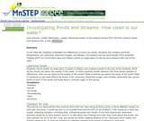 Investigating Ponds and Streams: How clean is our water?