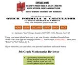 5th Grade Math Assessment Reviewer
